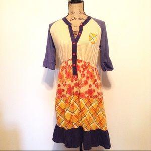 Anthropologie Scrapbook Patchwork Dress -S